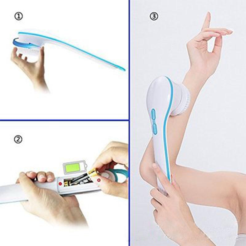 Electric Spin SPA Massage Brush 5 in 1