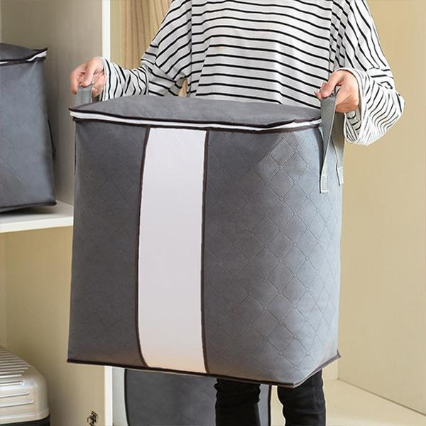62L Folding Bamboo Clothes Storage Bag(4 Bags/Set)