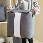 62L Folding Bamboo Clothes Storage Bag(3 Bags/Set)