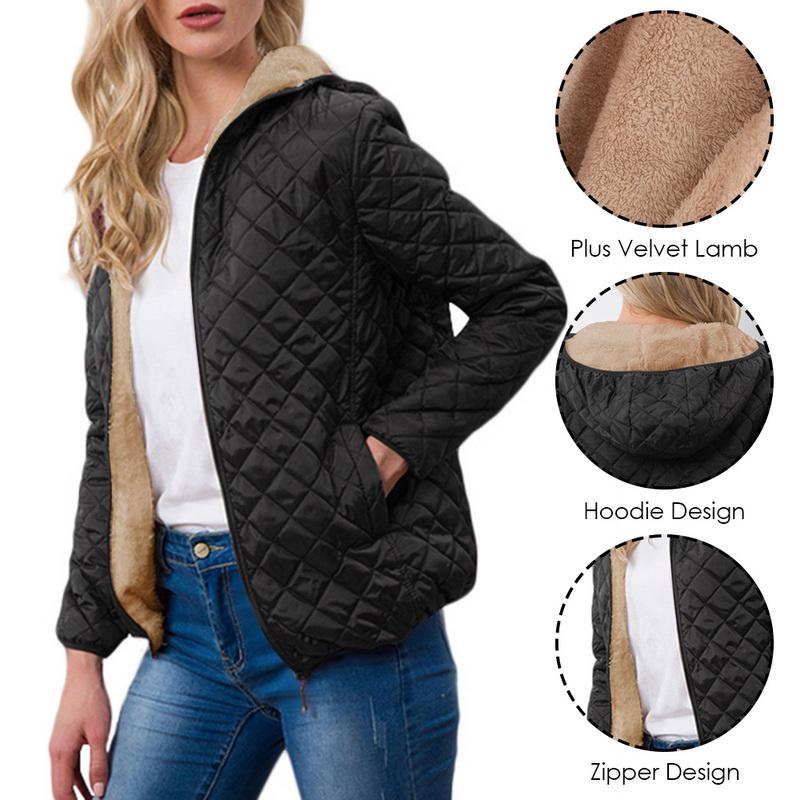 Plus Size Lightweight Casual Comfort Warm Jacket