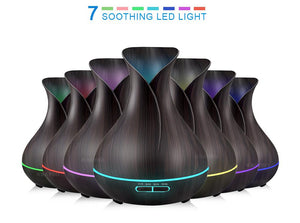 Electric Aroma Essential Oil Diffuser Air Humidifier - 400ml LED Lights Air Purifier