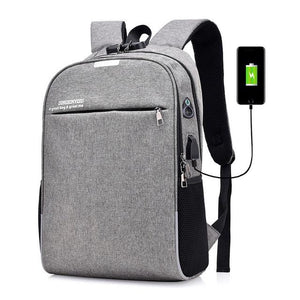 Anti Theft Canvas Backpack Zipper Lock