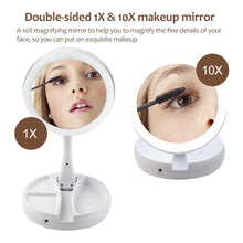 Foldable LED Makeup  travel Mirror