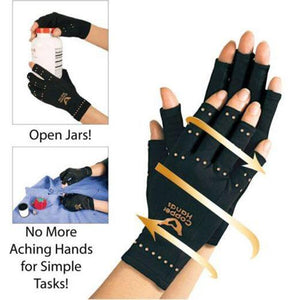 Professional Anti Arthritis Copper Compression Therapy Hand Gloves
