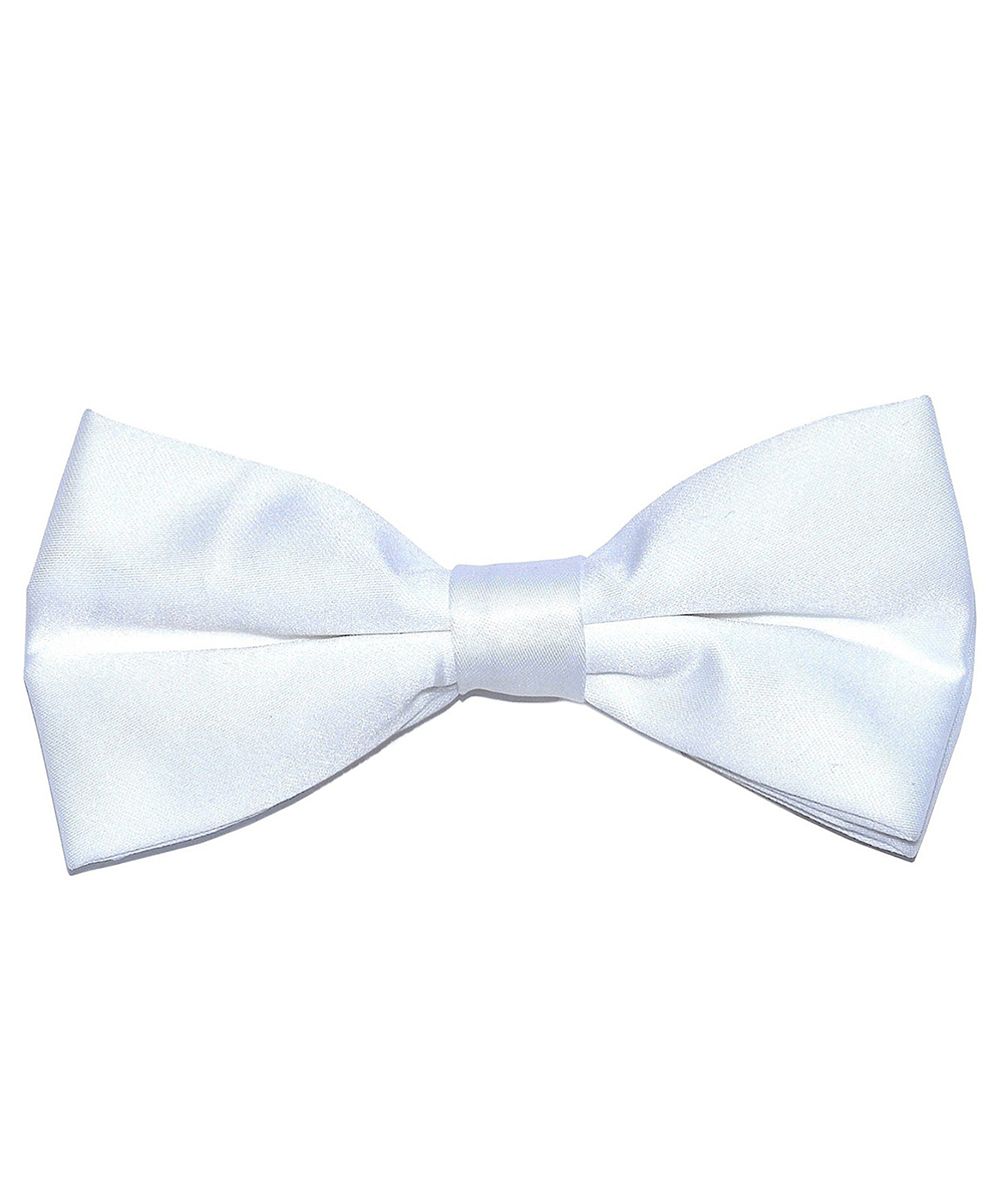 Solid White Men's Formal Bow Tie - tiepassion