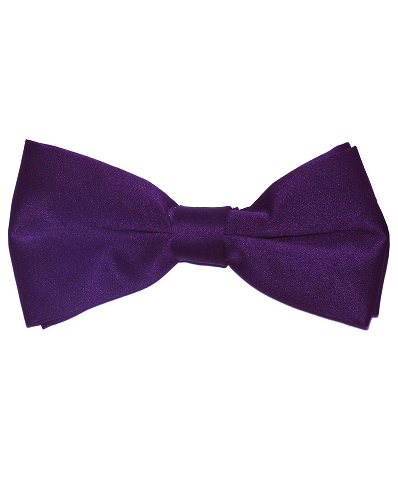 Solid Grape Juice Purple Men's Formal Bow Tie - tiepassion