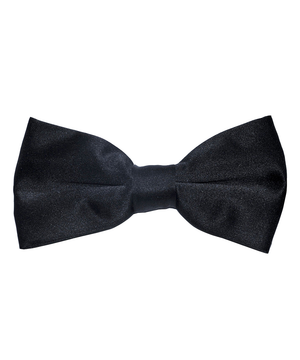 Solid Black Men's Formal Bow Tie - tiepassion