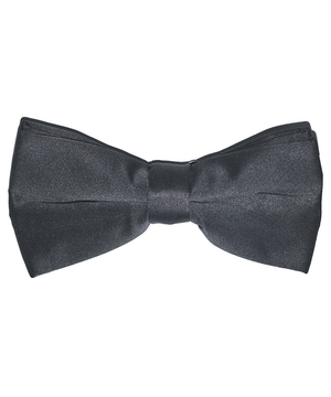 Solid Charcoal Men's Formal Bow Tie - tiepassion