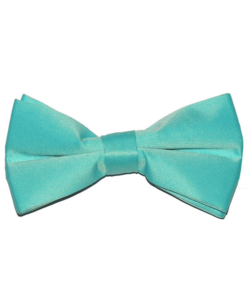 Solid Angel Blue Men's Formal Bow Tie - tiepassion