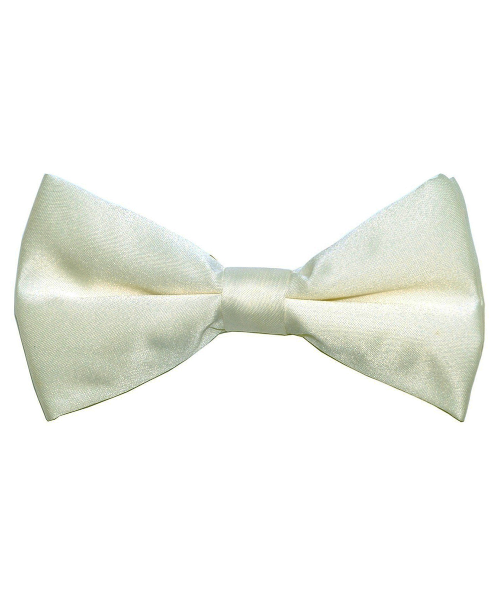 Solid Ivory Men's Formal Bow Tie - tiepassion
