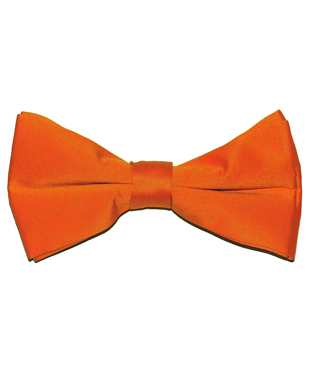 Solid Burnt Orange Men's Formal Bow Tie - tiepassion