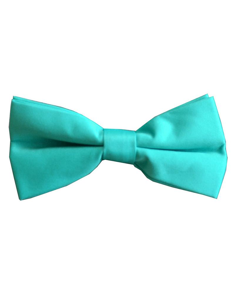 Solid Turquoise Men's Formal Bow Tie - tiepassion