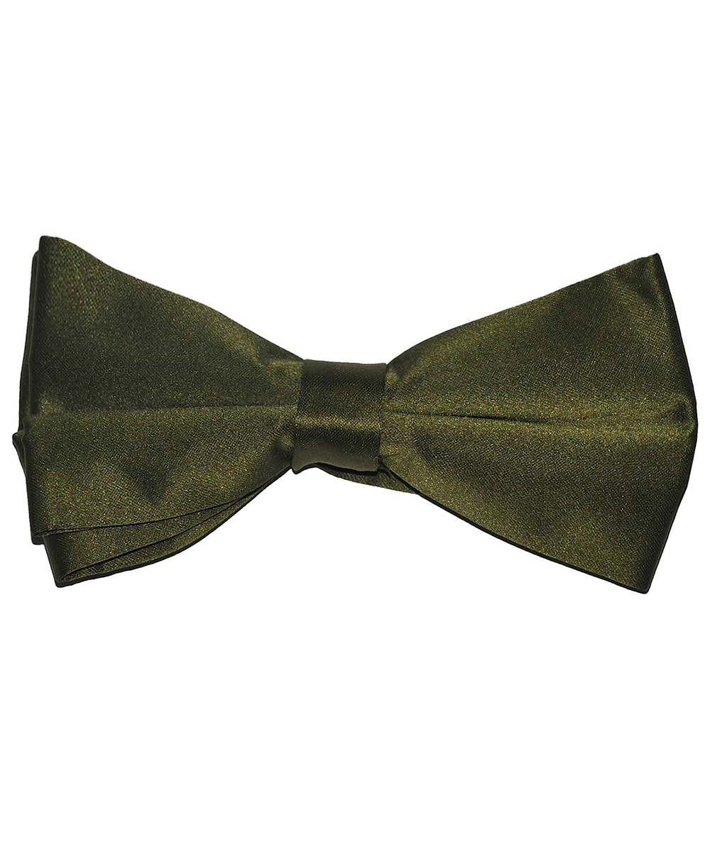 Solid Olive Men's Formal Bow Tie - tiepassion