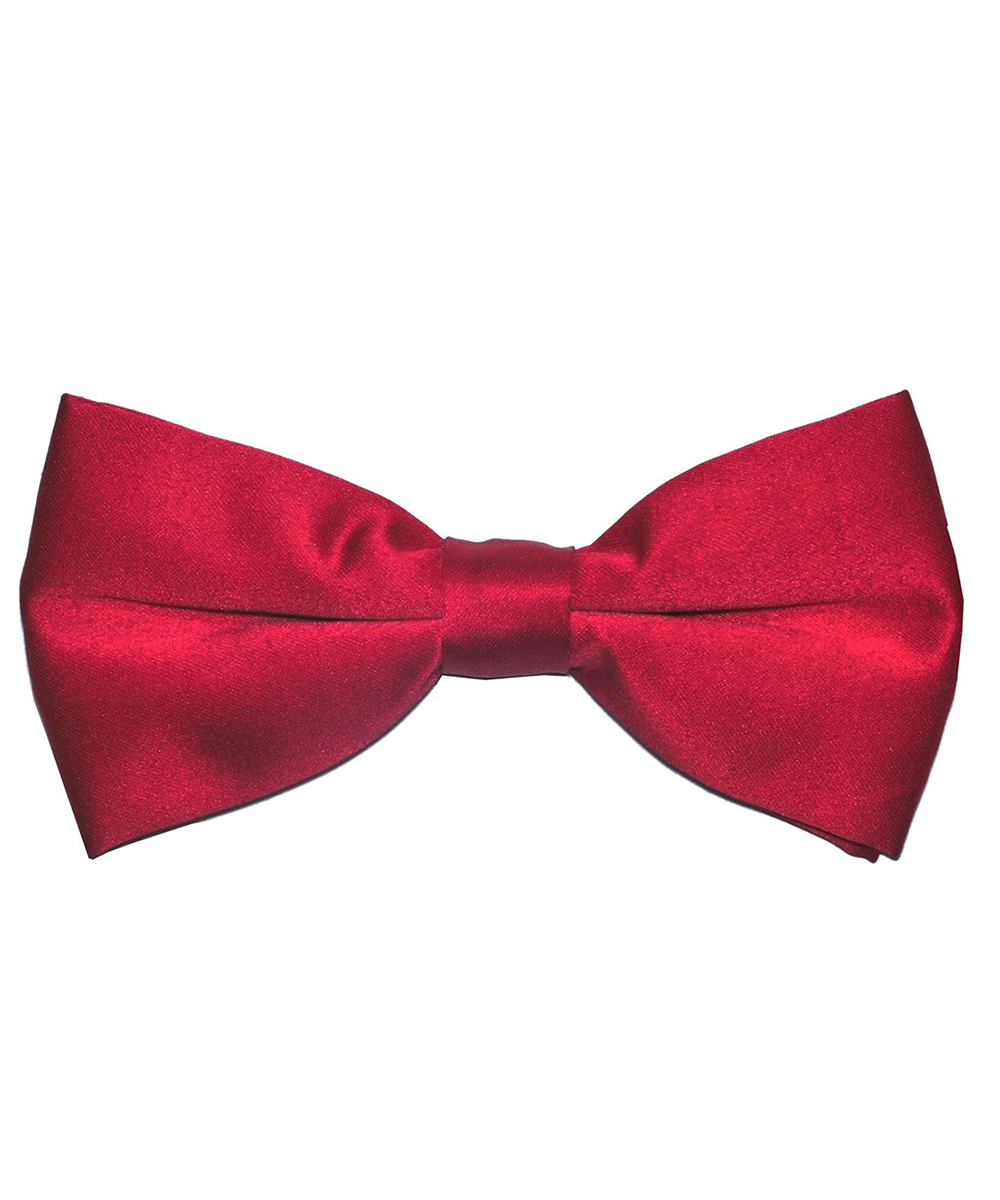 Solid dark Red Men's Formal Bow Tie - tiepassion