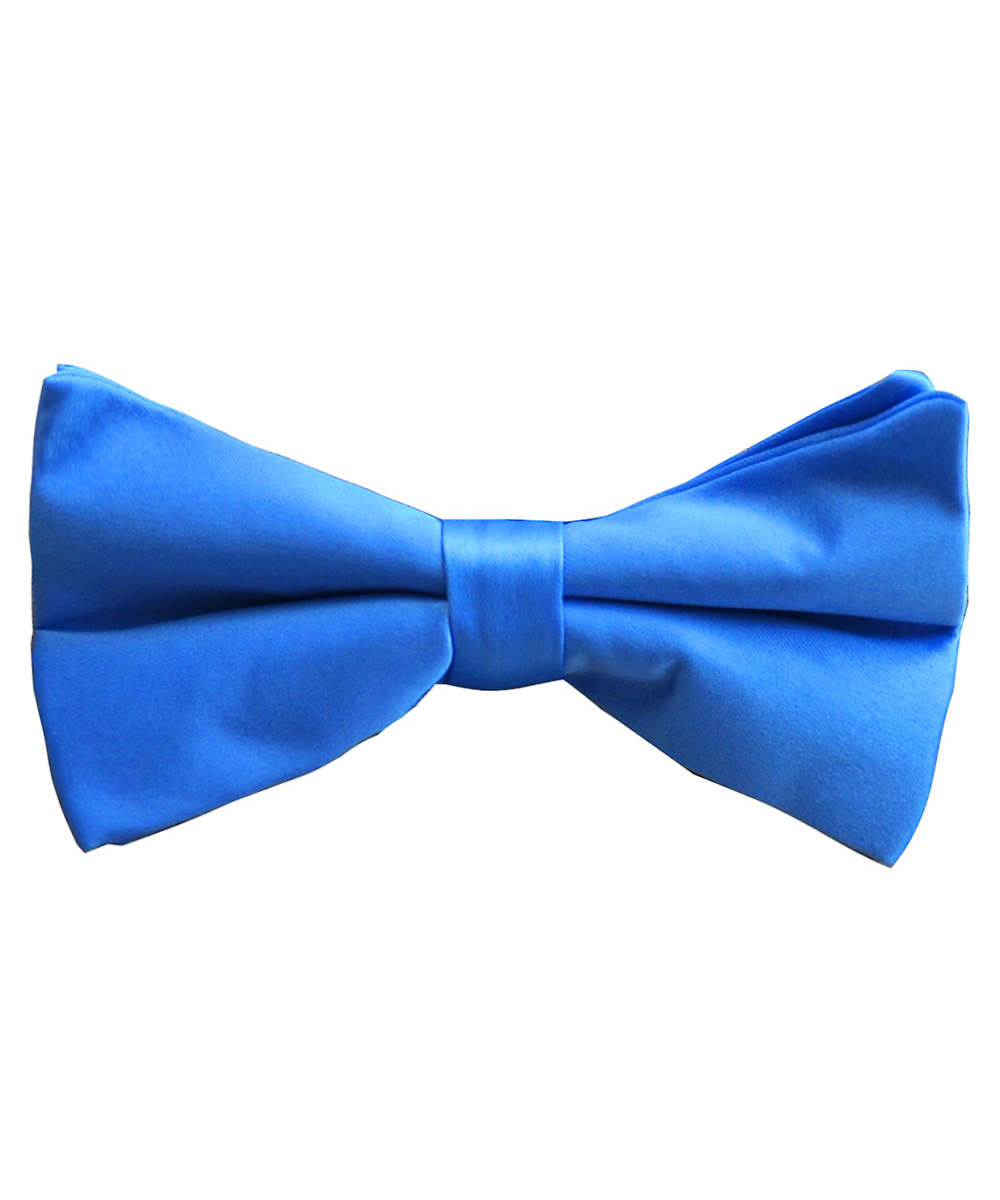 Solid Medium Blue Men's Formal Bow Tie - tiepassion