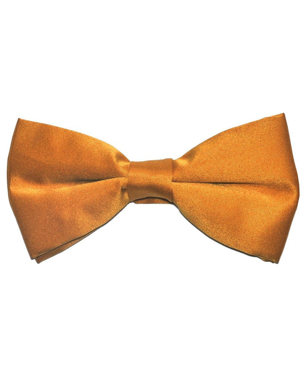 Solid Sun Orange Men's Formal Bow Tie - tiepassion