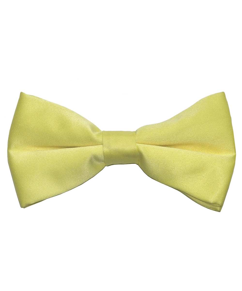 Solid Light Yellow Men's Formal Bow Tie - tiepassion