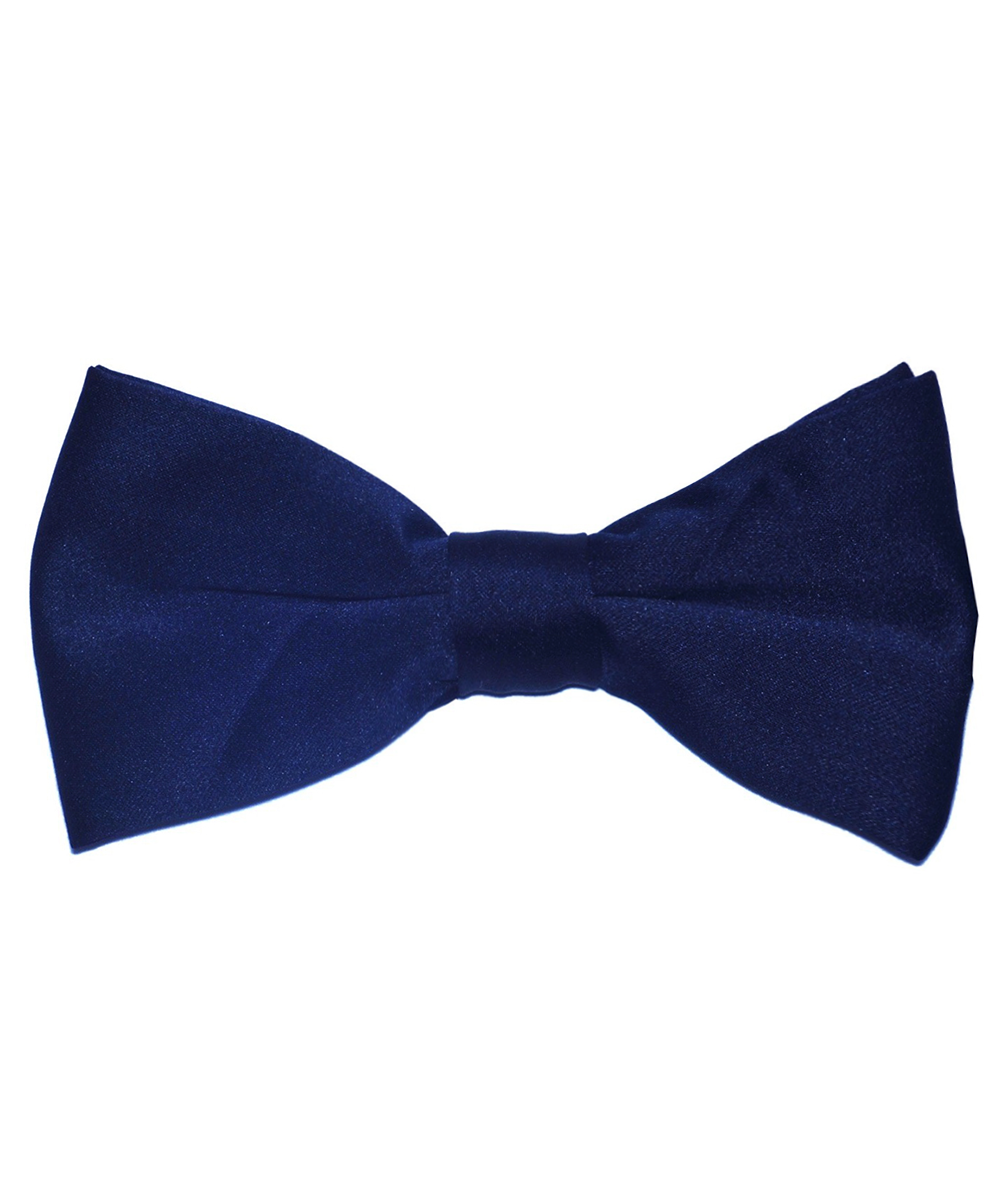 Solid Navy Blue Men's Formal Bow Tie - tiepassion