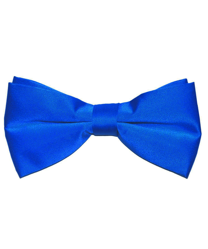 Solid Blue Men's Formal Bow Tie - tiepassion