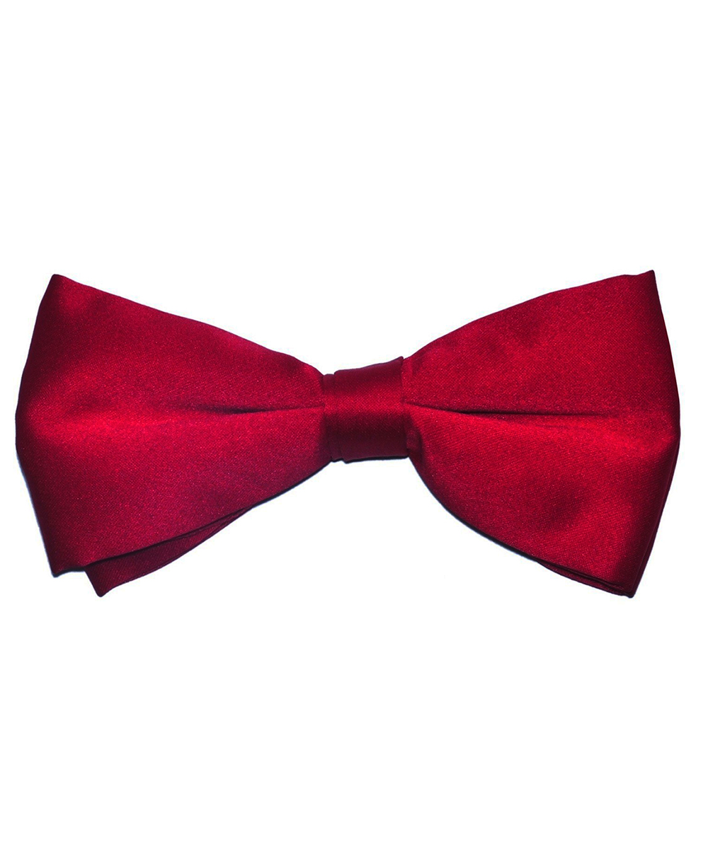 Solid True Red Men's Formal Bow Tie - tiepassion