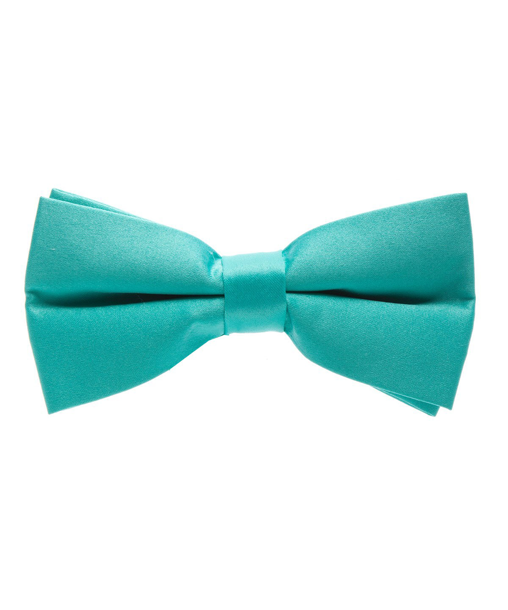 Solid Tropical Green Men's Formal Bow Tie - tiepassion