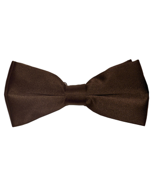 Solid dark Brown Men's Formal Bow Tie - tiepassion