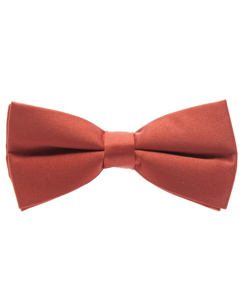 Solid Ginger Spice Men's Formal Bow Tie - tiepassion