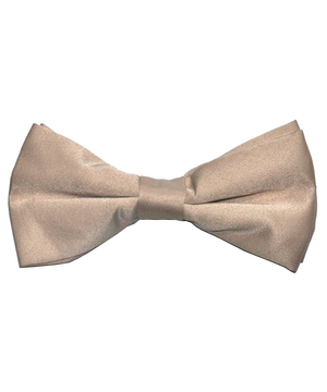 Solid Tan Men's Formal Bow Tie - tiepassion
