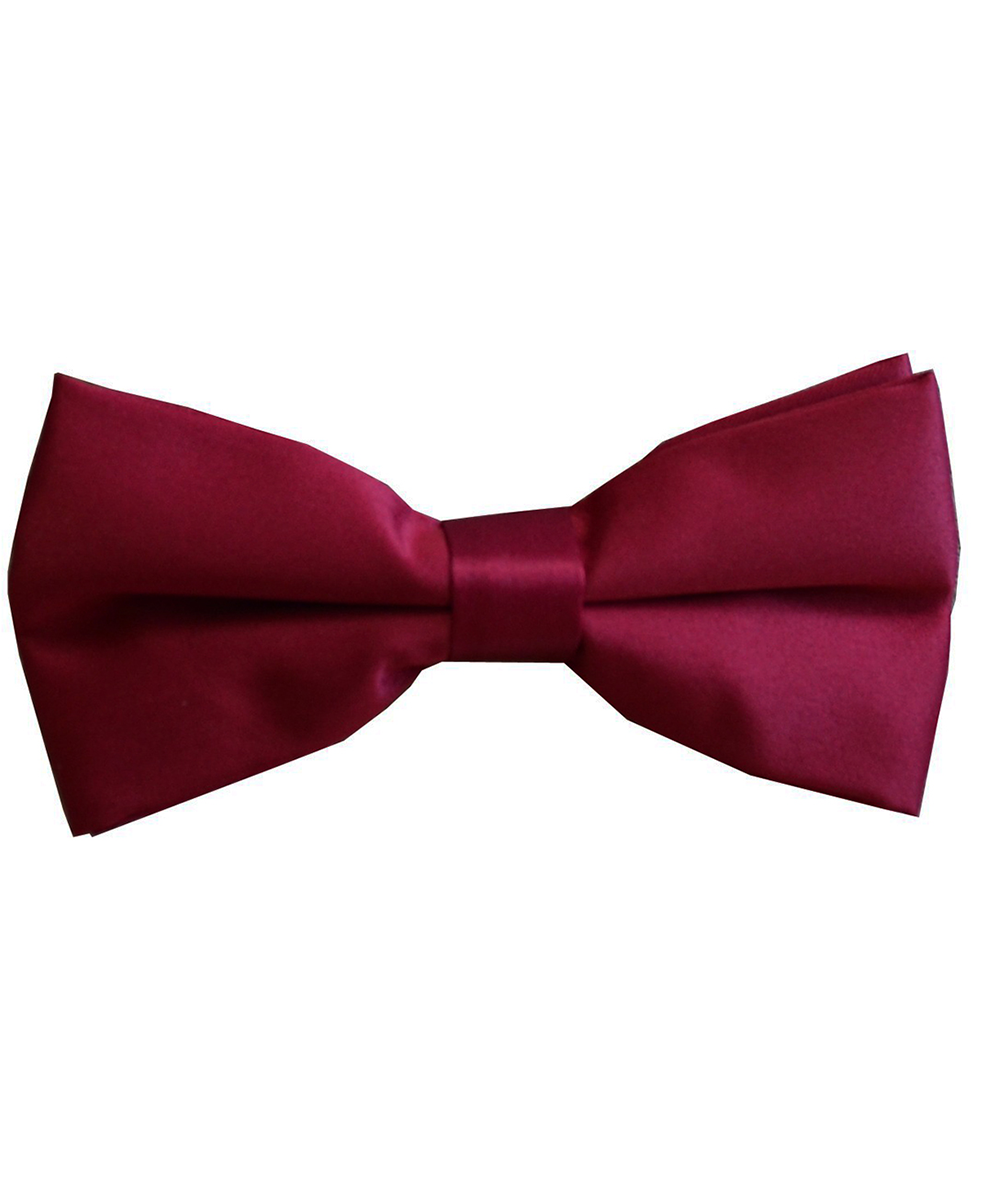 Solid Burgundy Men's Formal Bow Tie - tiepassion
