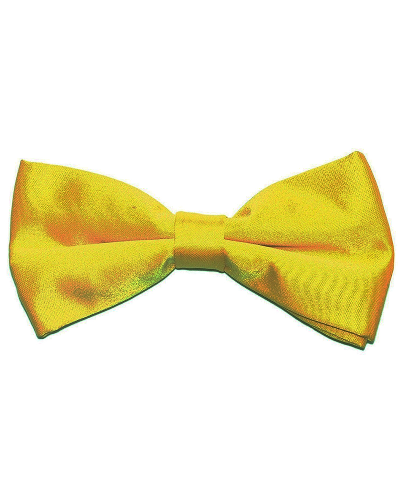 Solid Sun Yellow Men's Formal Bow Tie - tiepassion