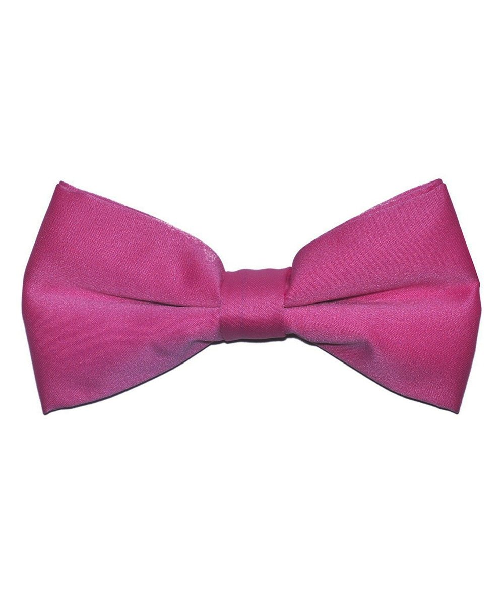 Solid Hot Pink Men's Formal Bow Tie - tiepassion