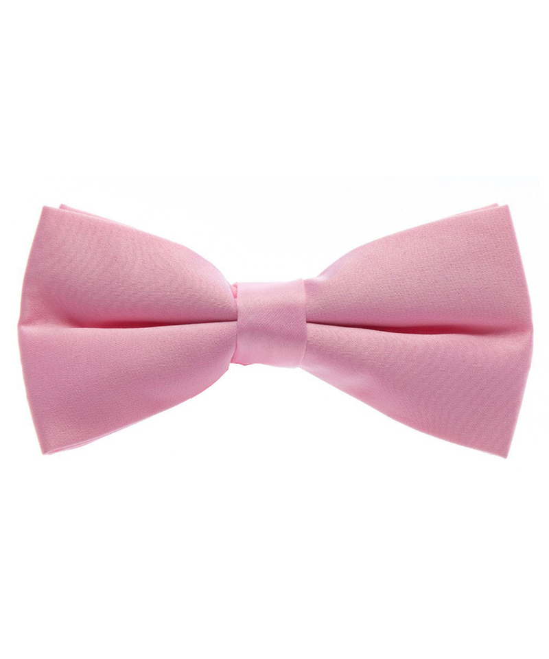 Solid Light Pink Men's Formal Bow Tie - tiepassion