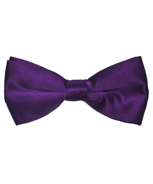 Solid Gloxinia Men's Formal Bow Tie - tiepassion