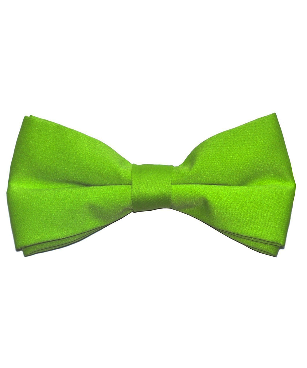 Solid Lime Green Men's Formal Bow Tie - tiepassion