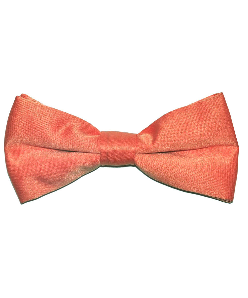 Solid Salmon Men's Formal Bow Tie - tiepassion
