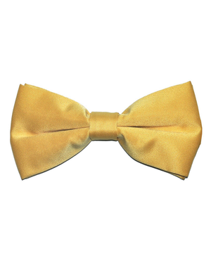 Solid Gold Men's Formal Bow Tie - tiepassion