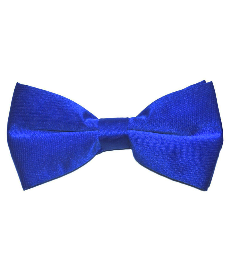Solid Royal Blue Men's Formal Bow Tie - tiepassion