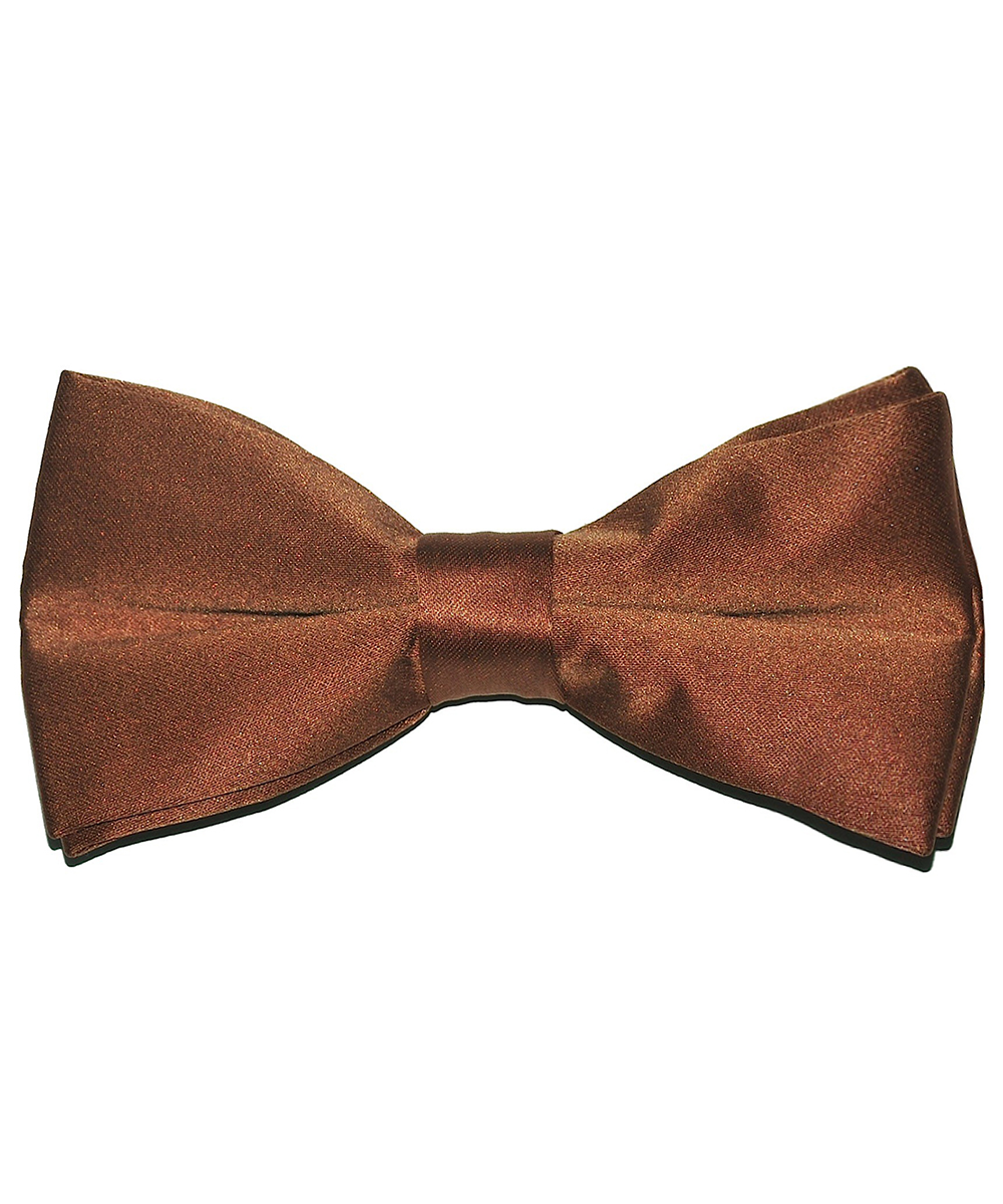 Solid Brown Men's Formal Bow Tie - tiepassion