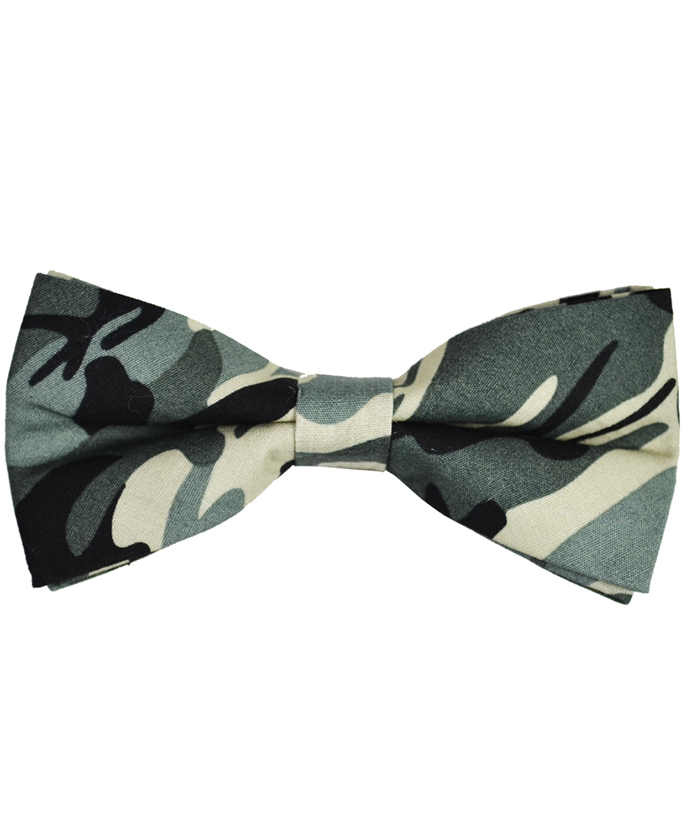 Green Camouflage Cotton Bow Tie - tiepassion