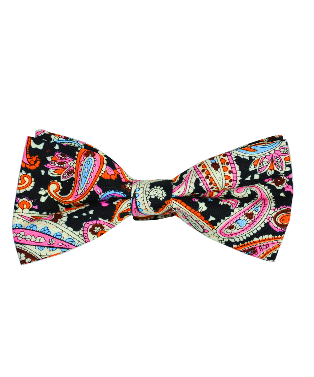 Multicolored Paisley Cotton Bow Tie - tiepassion