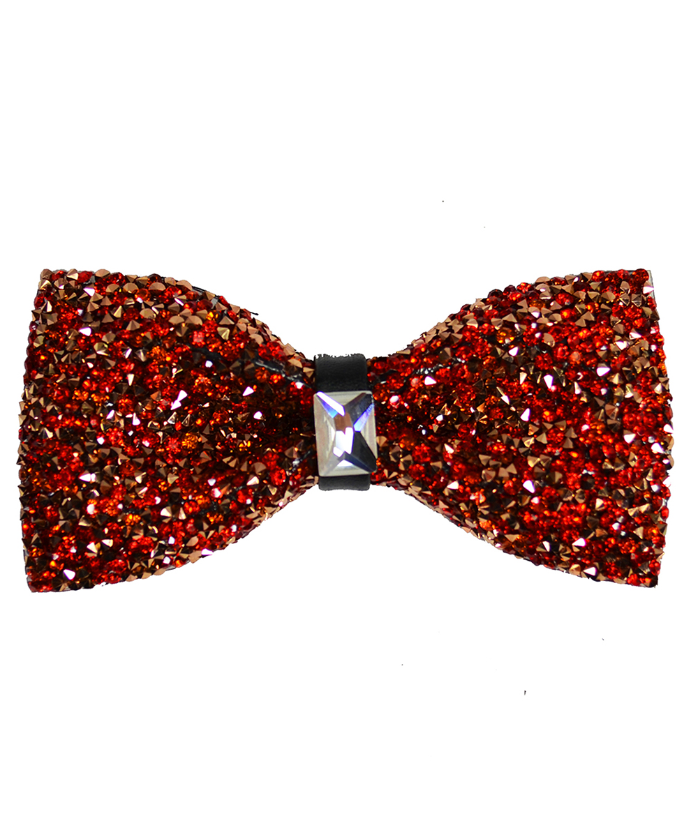 Red Formal Crystal Men's Bow Tie - tiepassion