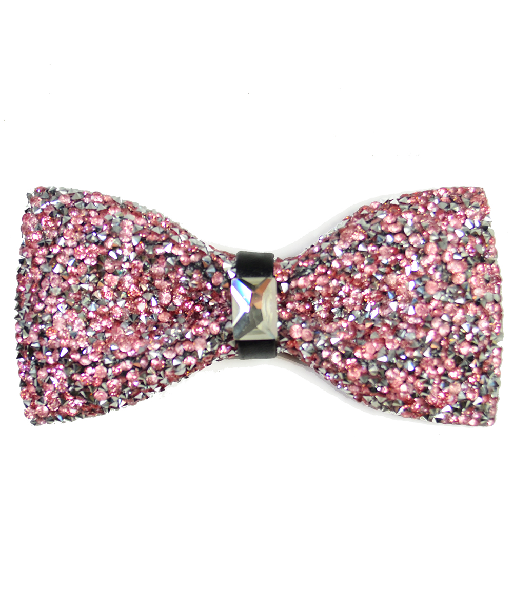 Light Pink Formal Crystal Men's Bow Tie - tiepassion