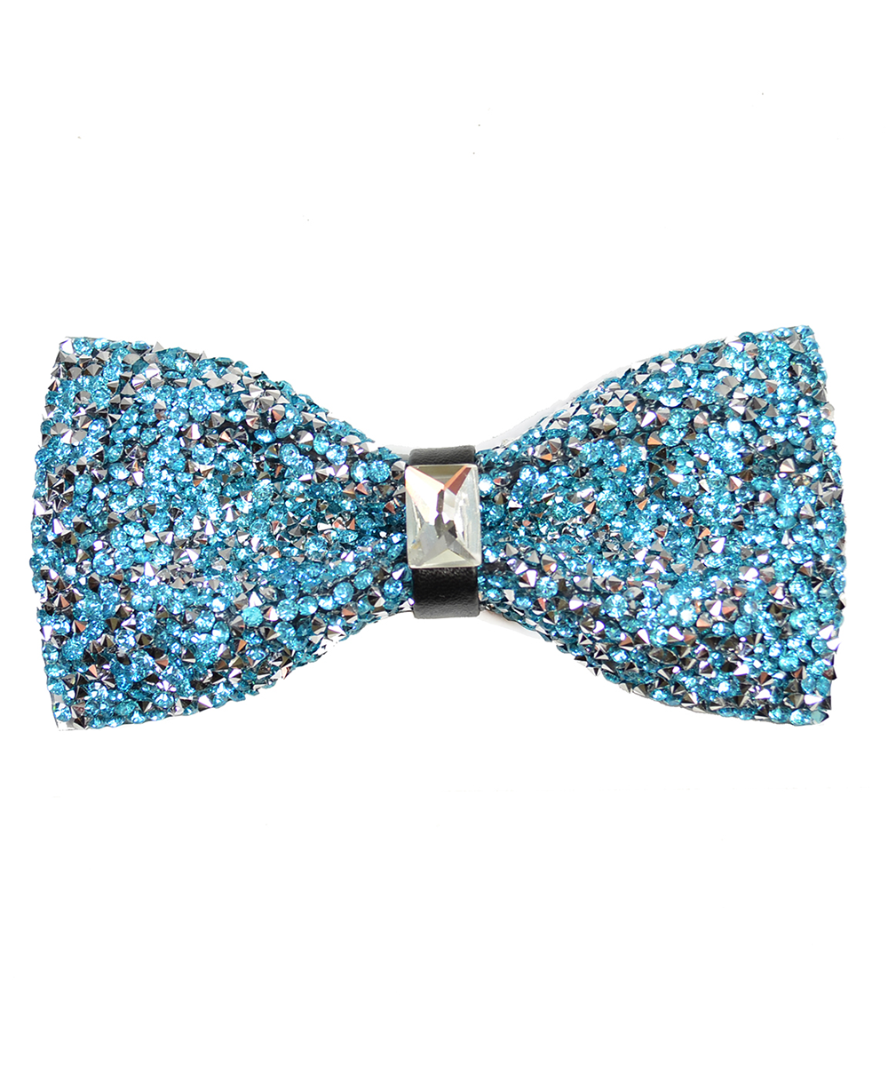 Turquoise Formal Crystal Men's Bow Tie - tiepassion