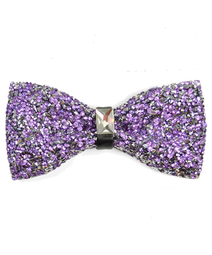 Violet Formal Crystal Men's Bow Tie - tiepassion
