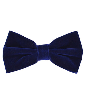 Stunning Navy Velvet Men's Bow Tie and Pocket Square - tiepassion