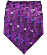 Classic Square Patterned Necktie and Pocket Square