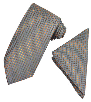 Classic Polka Dot Men's Tie and Pocket Square