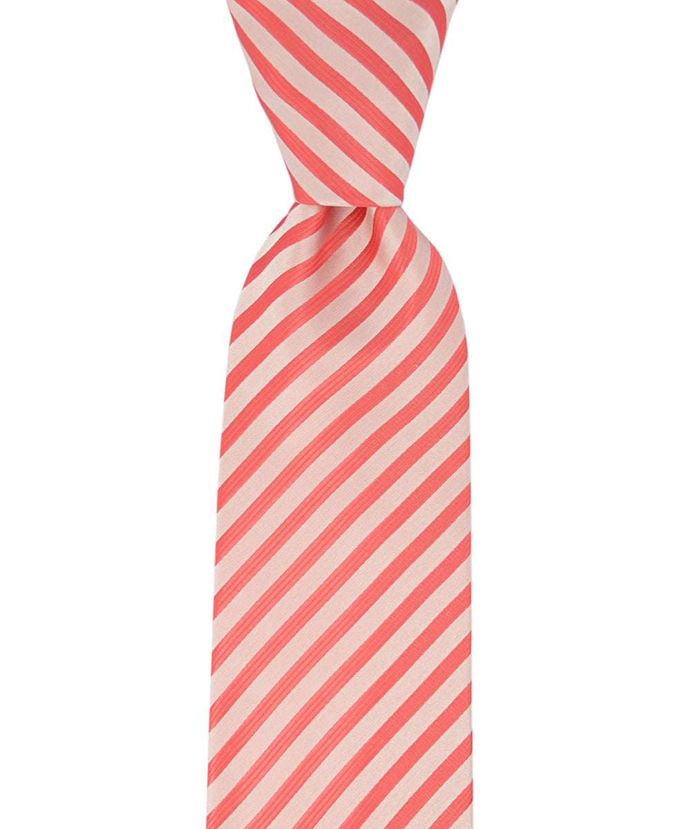 Sugar Coral Striped Necktie - tiepassion