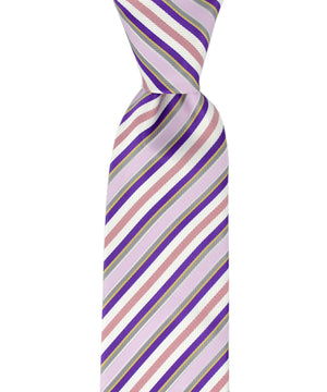 Purple, Lavender and Pink Striped Necktie - tiepassion