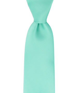 Turquoise Solid Necktie and Pocket Square - tiepassion